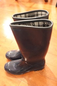 Banana Republic Navy Blue Rain Boots
