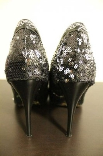 Ed Hardy Tatto Sequin Black (and Silver) Pumps