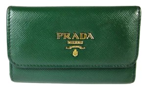 Prada Green, Saffiano Leather, Key Chain/Case