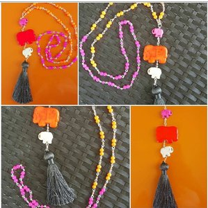 Lilly Pulitzer- Like Tassel Necklace