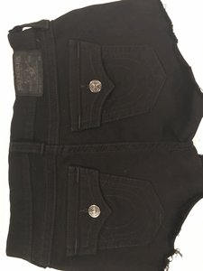 True Religion Cut Off Shorts Black