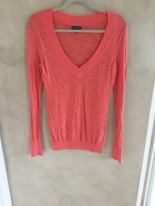 Express Knit Cotton V-neck Sweater