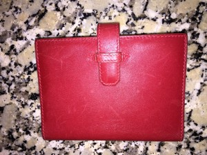 Hermès Red Leather Bifold Wallet