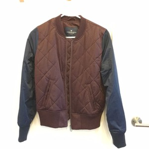 American Eagle Outfitters Wine and navy Jacket