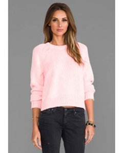 T by Alexander Wang Chainette Raglan Knit Sweater