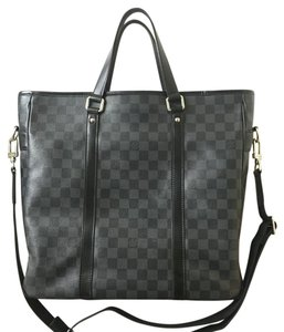 Louis Vuitton Damier Graphite Tadao Tote in black