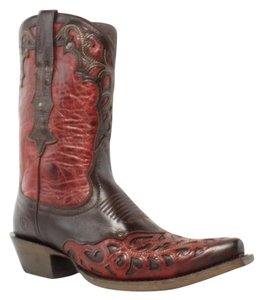 Ariat 2 tone Red and Brown Boots