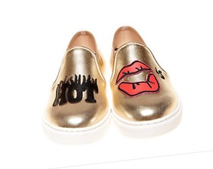 Betsey Johnson Gold Flats