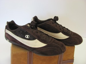 Champion Leather Size 11.00 M Brown, Cream Athletic