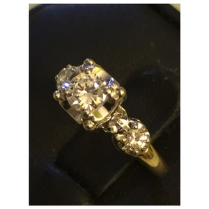 Other Art Deco Diamond 14k Yellow/ White Gold Engagement Ring Sz 6.5