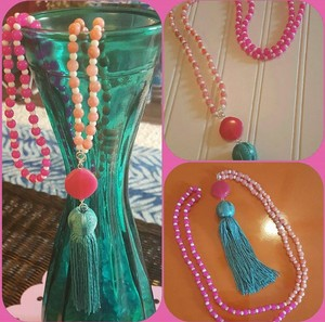 Lilly Pulitzer like Tassel Necklace