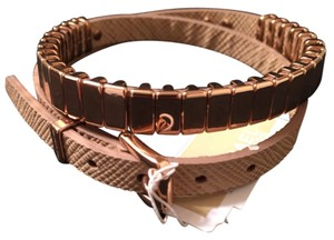 Michael Kors NWT MICHAEL KORS Double Wrap Leather & Rose Gold Bracelet