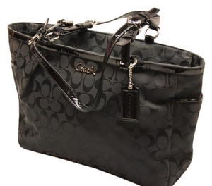 Coach Signature Jacquard Woven Tote in Black