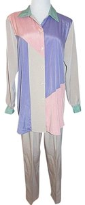 Maggie Sweet Maggie Sweet Pants Suit Color Block Tan Pink Purple Green Tunic
