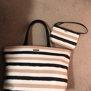 Kate Spade Tote in Black/white/cream