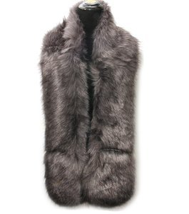 Other Gray Multitone Fur Scarf