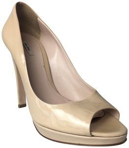 Miu Miu Open Beige Stiletto Nude Pumps