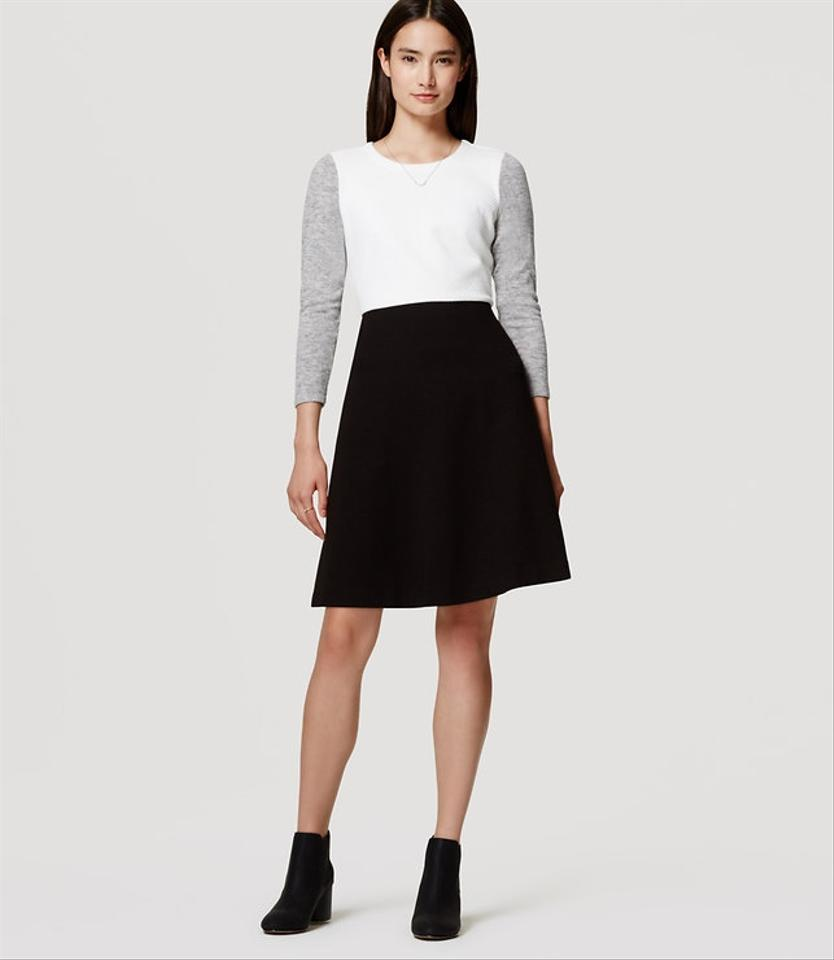 54ae8ef0050 Ann Taylor LOFT Fit And Flare Colorblock Feminine Ladylike Sweater Dress  Image 0 ...