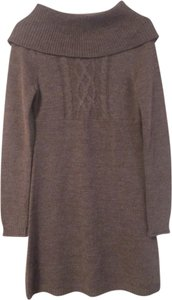 Mudd short dress Brown Knit Sweater on Tradesy