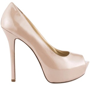 Enzo Angiolini Neutral Peep Toe Stiletto Sexy Classic Beige Pumps