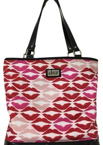 Lulu bu Lulu Guiness Tote in Red/pink/black