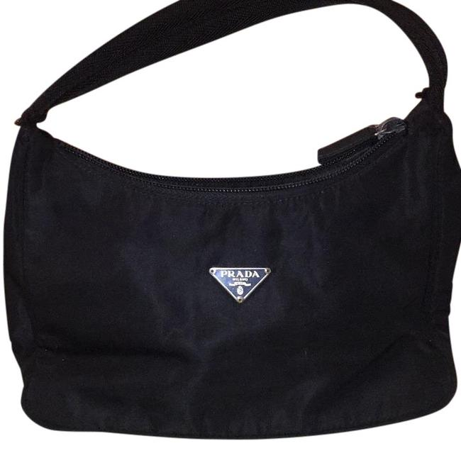 Prada Black Nylon Hobo Bag Prada Black Nylon Hobo Bag Image 1