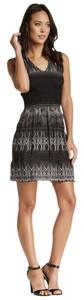Max Studio short dress BLACK SILVER on Tradesy
