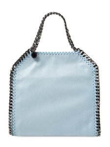 Stella McCartney Falabella Shaggy Deer Mini Tote in Light blue