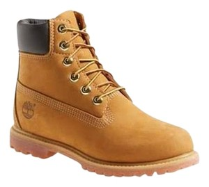Timberland Tan with brown learher at top Boots