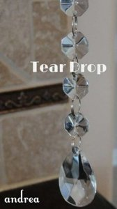 Clear 100-6 Inch Tear Drops Reception Decoration