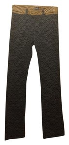 Dolce&Gabbana Boot Cut Pants Black/beige