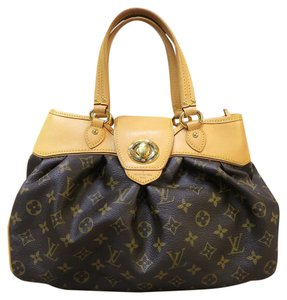 Louis Vuitton Lv Monogram Canvas Small Handle Tote in brown