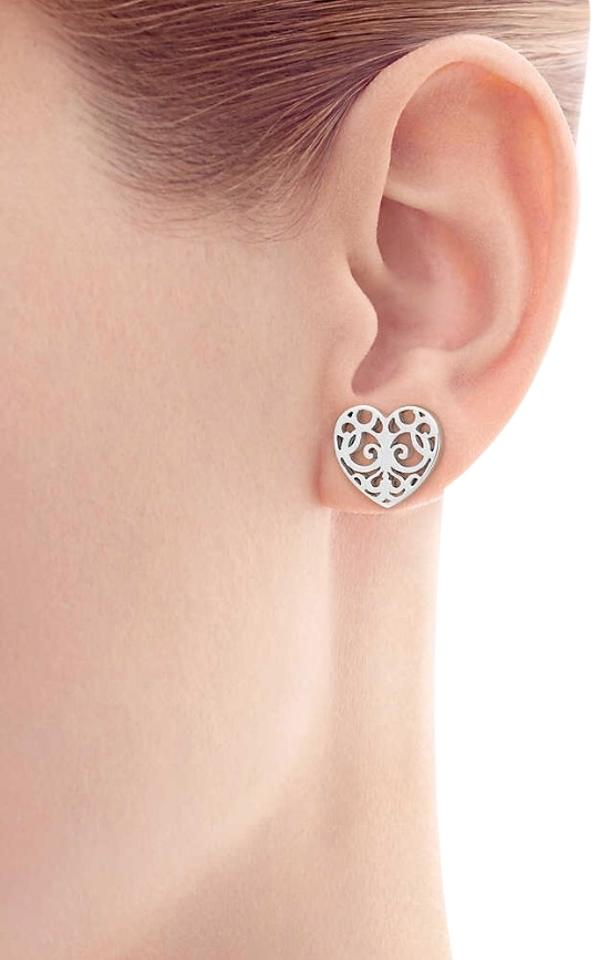 Tiffany Co Enchant Heart Earrings