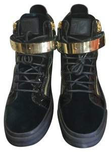 Giuseppe Zanotti Black and Dark Green Athletic