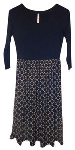 Modcloth short dress Navy blue Stretch on Tradesy
