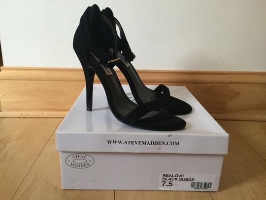 Steve Madden Stillettos High Heels Dress Classy Stylish Black Sandals