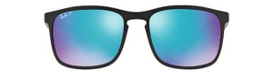 Ray-Ban Polarized black Frame and blue lens ray Ban wayfarers
