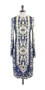 Tory Burch short dress Blue & Ivory Long on Tradesy