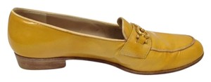 Salvatore Ferragamo Loafers Chic Patent Leather Yellow Flats