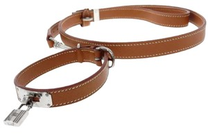 Hermès Hermes Dog Collar And Leash Leather