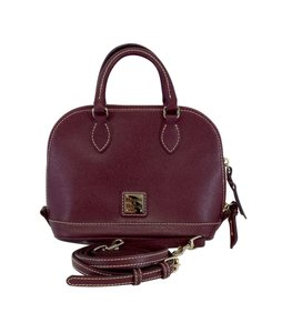 Dooney & Bourke Small Maroon Leather Satchel