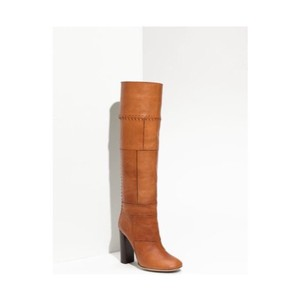 Chloe Patchwork Boots Tan Boots