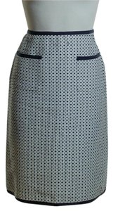 Max Mara Textured Pencil Skirt Blue Ivory