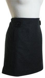 J.Crew Woven Wool Solid Mini Skirt Black