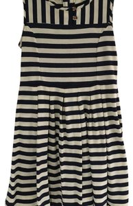 Anthropologie short dress Navy and Cream on Tradesy