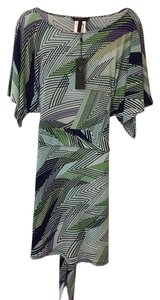 BCBGMAXAZRIA short dress Zig Zag Art Mint/Green on Tradesy
