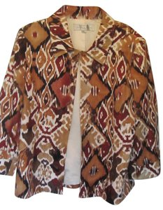 Tahari brown print Jacket