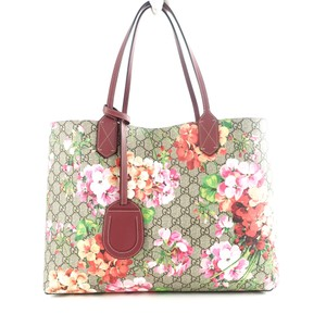 a207ddc4e1a Gucci Reversible Gg Blooms Antique Pink Leather Tote - Tradesy