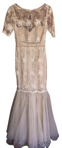 Badgley Mischka Tulle Evening Dress