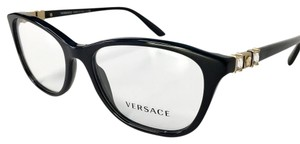 Versace VERSACE Eyeglasses Black with Gold and Crystals accents